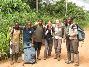 The acoustic monitoring team in the Republic of Congo.