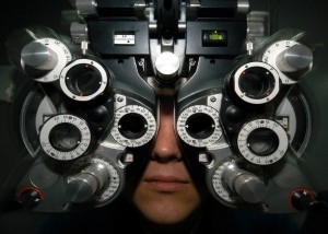 Representation of fitting a model to the data. Each piece that the optometrist needs to adjust is a parameter of the model. Looks complicated, right?