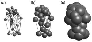 Measuring principle of the Minkowski-Bouligand method. The placement of the spheres is defined by the vertices of the 3D mesh.