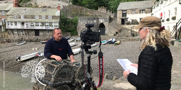 Dr Gill Ainsworth (CEH) uses the Community Voice Method to interview an inshore fisherman [grant number NE/L003279/1].