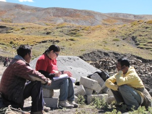 Key herder interviews by Chandrima Home (co-author) in the Upper Spiti Landscape © Kesang Chunit