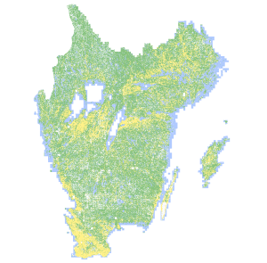Creating a historical map layer over the 175,000 km2 region of southern Sweden is now feasible