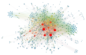 Social network visualization. Photo by Martin Grandjean CC-SA.