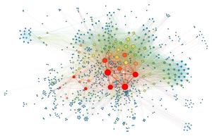 Social network visualization. Photo by Martin Grandjean CC-SA.