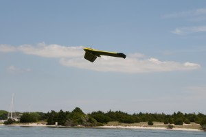 The eBee fixed wing drone used for our sea turtle surveys.